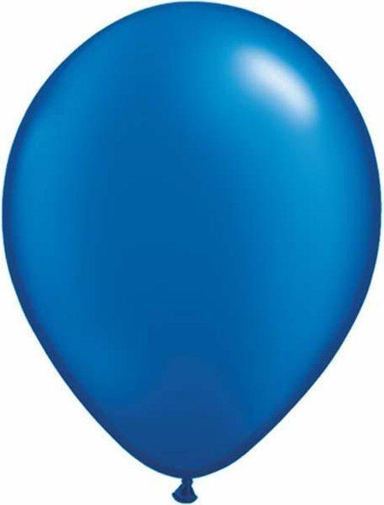 Qualatex ballonnen 100 stuks Pearl Sapphire Blue
