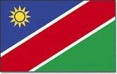 Vlag Namibie 90 x 150 cm feestartikelen - Namibie/Namibische landen thema supporter/fan decoratie artikelen