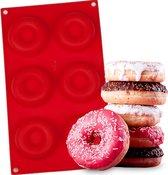 Siliconen Donutvorm – Donut Bakvorm Bakblik – Siliconen Mal – Rood
