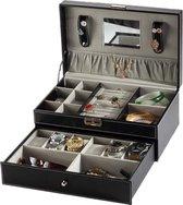 Sieradenbox Luxe - Sieradendoos - 7 compartimenten - Kunstleer