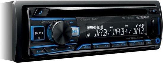 Alpine CDE-205DAB Autoradio met DAB - CD - Bluetooth - USB