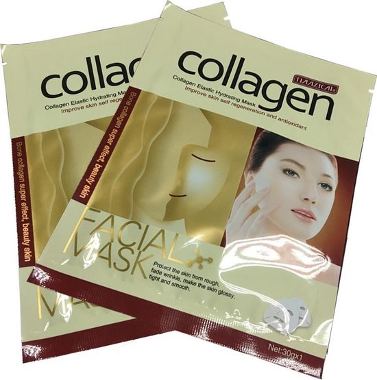 5x Gold Collageen Peel Off Masker - Anti Rimpel & Aging Hydraterend Gezichtsmasker - Merkloos