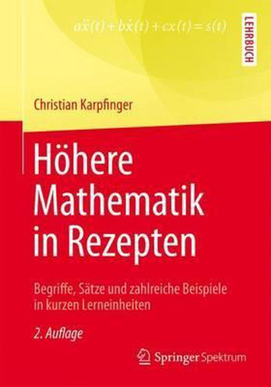 Hohere Mathematik in Rezepten