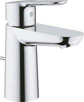 GROHE BauEdge Wastafelkraan - koud en warm water - met trekwaste - chroom - 23328000