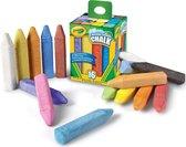 Crayola stoepkrijt, doos met 16 stuks in geassorteerde kleuren