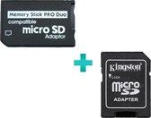 TCG   Micro SD naar Memory Stick Pro Duo geheugenkaart adapter