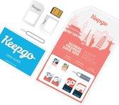 Keepgo 3-in-1 wereld simkaart inclusief 100MB (onbeperkt houdbaar*)