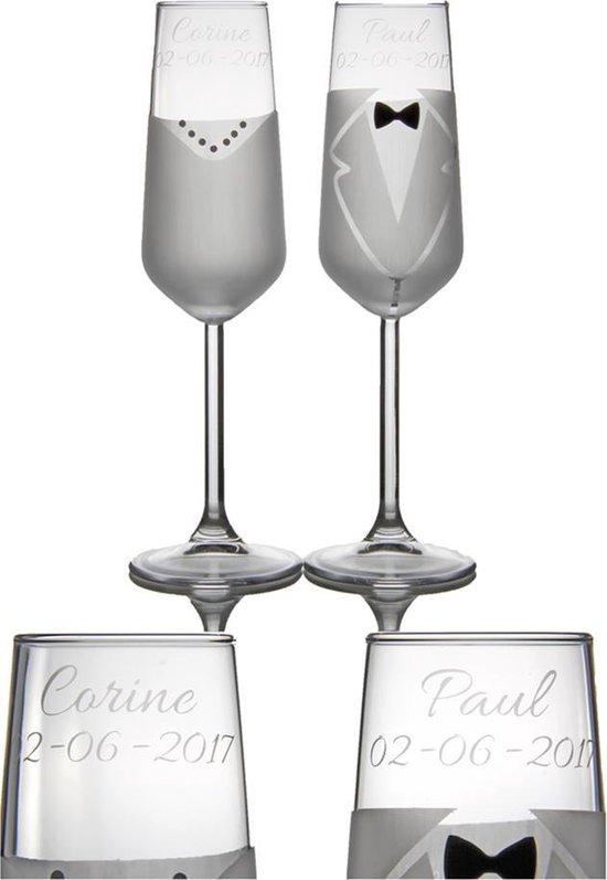 Wonderbaarlijk bol.com   Persoonlijke Champagneglazen - 200 ml - 2 stuks HC-13