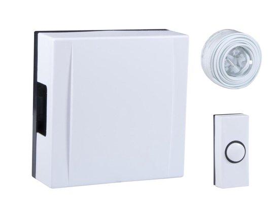 Byron 720 - Bedrade deurbel set - Wit - Incl beldrukker deurbel - kabel