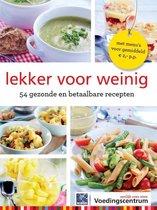 Boek cover Lekker voor weinig van Stichting Voedingscentrum Nederl