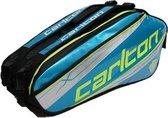 Carlton KINESIS TOUR 2COMP RKT BAG Blauw/zilver/zwart - Badmintontas