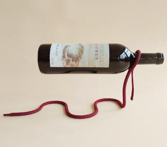 Vwist Magische Wijnhouder -  Zwevend Touw - Uniek Design - Vwist