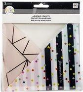 Me and My Big Idea's - Adhesive Pockets - Rainbow - 3stuks