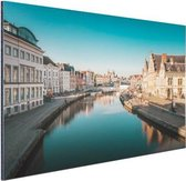 Stad in Europa Aluminium 90x60 cm - Foto print op Aluminium (metaal wanddecoratie)