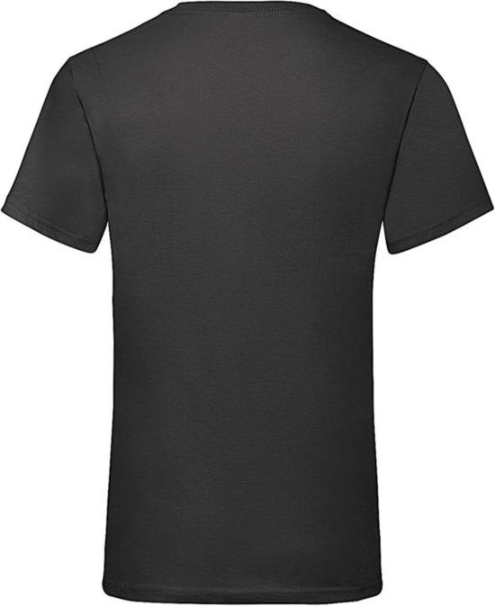 12-Pack Fruit of the Loom T-shirts - V-hals - Zwart - Maat M