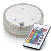 RGB LED-Base - 2 stuks - met afstandbediening - Incl. batterijen