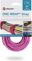 Velcro One-Wrap klittenband kabelbinders 200 x 12mm / roze (25 stuks)