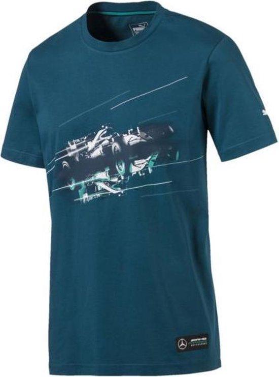 PUMA Mercedes Graphic Tee Heren - Blue Coral - PUMA