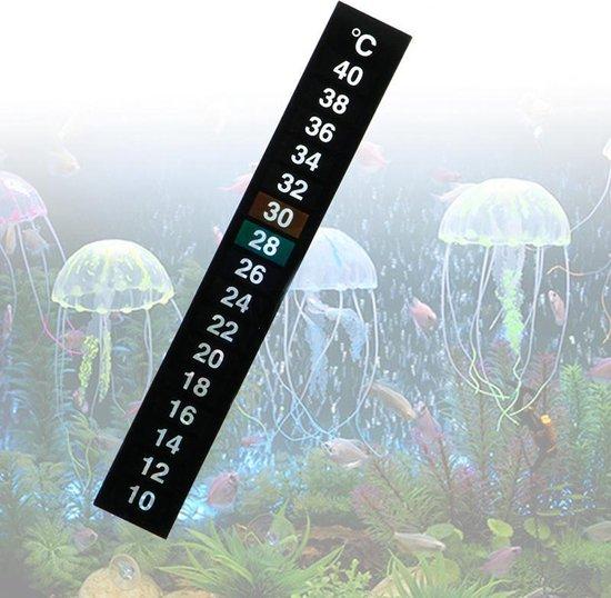 Aquarium Thermometer Strip - 13 x1.8 cm - 2 Stuks