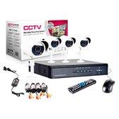 CCTV security systeem, 4 camera's + DVR