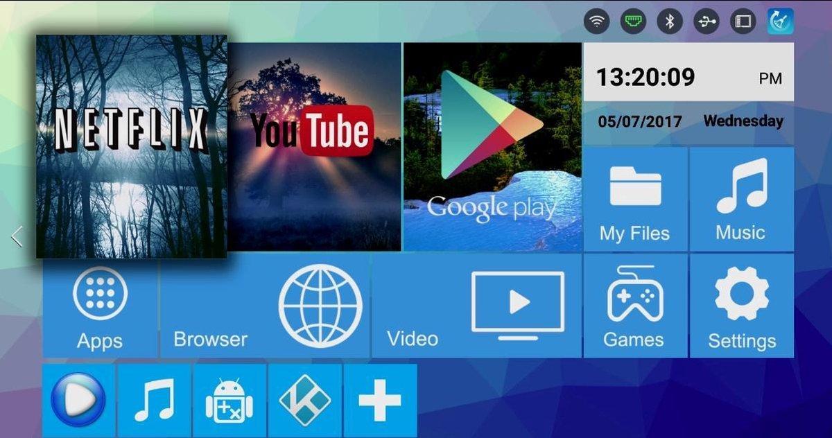 H96 PRO PLUS S912 2GB RAM 4K Android TV Box Kodi 17 Streamer met Bluetooth 4.0 en 5G WiFi