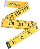 Meetlint – 1.5 meter – Centimeter – Kleermakersmeetlint – Omvang Meetlint - Meetband - Classic Kunststof Meetlint voor kleding of hobby - Metalen Eindplaat - 150 CM – Geel
