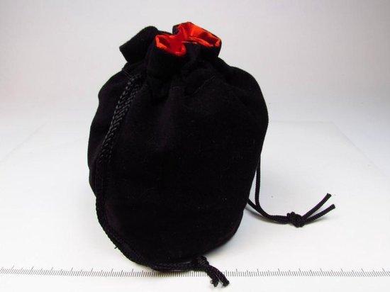 Afbeelding van het spel Staande buidel, zwart met rood gevoerd, capaciteit 50