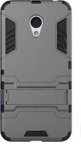 Shop4 - Meizu M3 Note Hoesje - Harde Back Case Armor Grijs