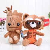 Guardians Of The Galaxy Knuffels - Rocket Raccoon & Groot