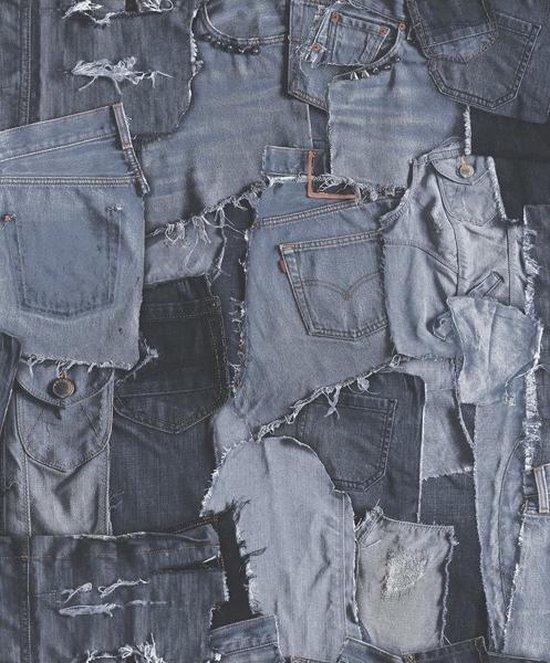Bol Com Village People Jeans Blauw Behang Vliesbehang Blauw