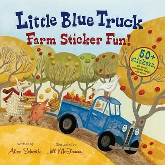Boek cover Little Blue Truck Farm Sticker Fun! van Alice Schertle (Paperback)
