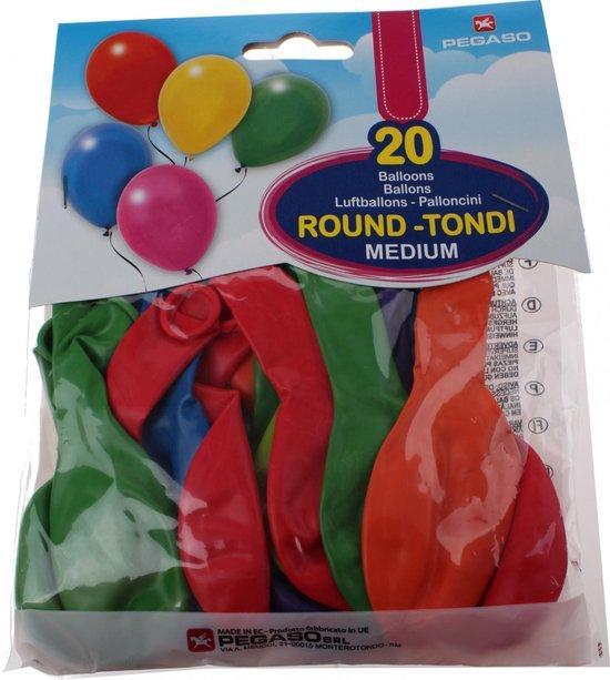 Pegaso Ballonnen 28 Cm Gekleurd 20 Stuks
