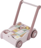Little Dutch Blokkenkar Adventure pink