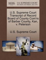 U.S. Supreme Court Transcript of Record Board of County Com'rs of Barber County, Kan, V. Peterson
