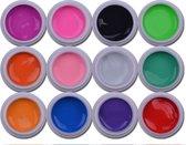 12-Delige Gel Nagellak / Gellak / Gel Polish Set - Gelnagellak Starter Set Voor Nail Art Acrylnagels / Gelnagels / Kunstnagels / Nepnagels - Manicure & Pedicure