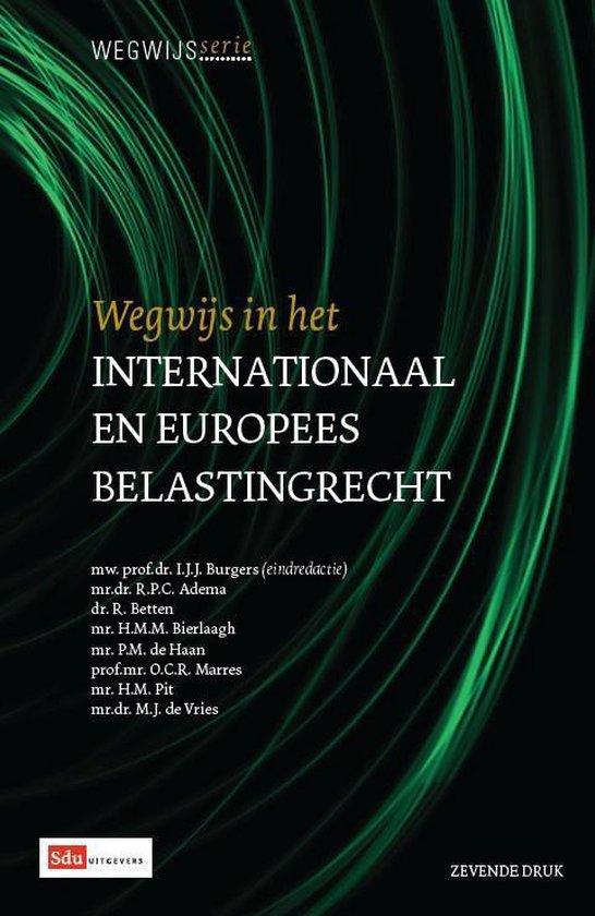 Boek cover Wegwijsserie 8 - Wegwijs in het internationaal en Europees belastingrecht van R.P.C. Adema (Paperback)