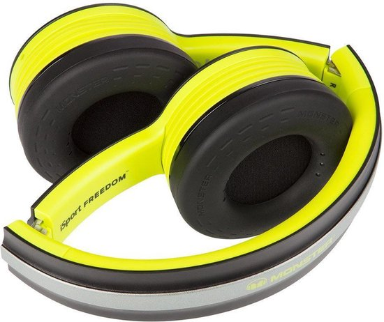 bol.com | Monster iSport Freedom Neon Green - Draadloze on-ear koptelefoon met Bluetooth - Groen