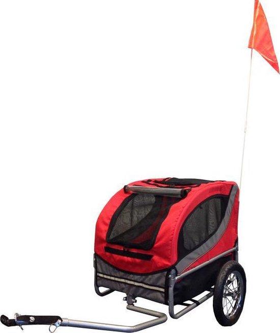 Fietskar runner 1 rood - grijs 63 X 58 X 64 CM