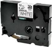 Label Tape Compatible TZ231 TZe231 TZ-231 - 12 mm - Voor GL-H105, GL-200, PTE-550WVP, PT-P700, PT-H300