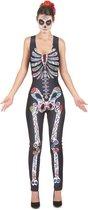 LUCIDA - Dia de los Muertos skelet pak voor vrouwen - S/M - Volwassenen kostuums