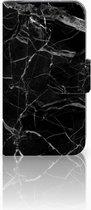 LG L90 Wallet Book Case Hoesje Marmer Zwart