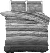 Sleeptime Marcus Dekbedovertrekset - Lits-Jumeaux - 240x200/220 + 2 kussenslopen 60x70 - Antraciet