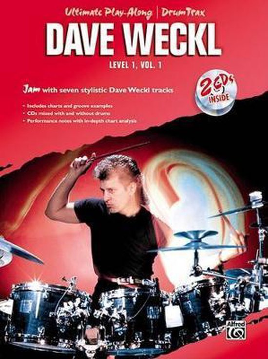 Boek cover Ultimate Play-Along Drum Trax Dave Weckl, Level 1, Vol 1: Jam with Seven Stylistic Dave Weckl Tracks, Book & CD van Dave Weckl (Paperback)