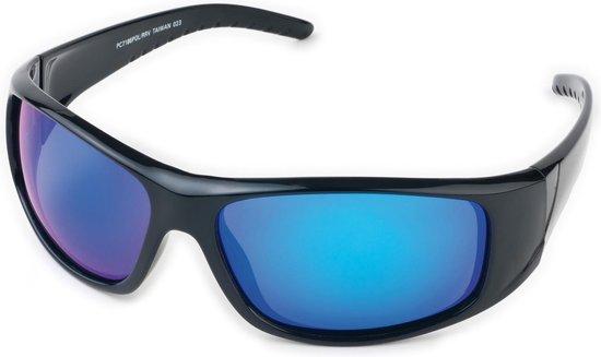 Polariserende Zonnebril BluePower Blauw Zwart Spiegelglas – Bootbril Spiegelglazen Sportzonnebril Sport Vis Boot Fiets Fietsbril Visbril