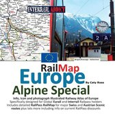 Rail Map Europe - Alpine Special