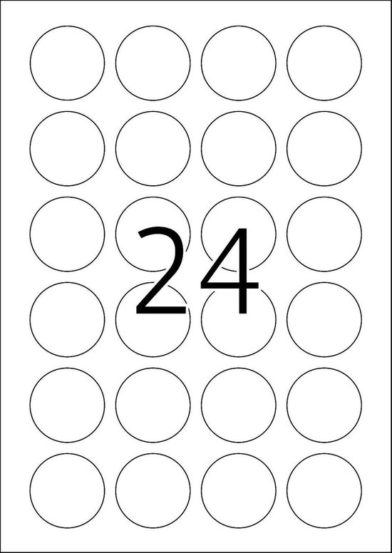 Herma Movables Etiketten rond 40 100 Vel DIN A4 2400 stuks 4476