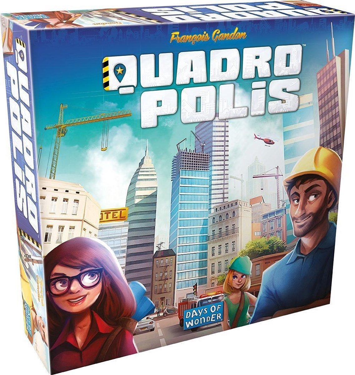 Quadropolis Engelstalig Bordspel