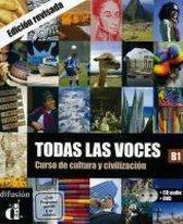 Todas las voces. Curso de cultura y civilización. Lehrbuch + Audio-CD + DVD