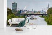 Rivier in de Duitse stad Mannheim fotobehang vinyl 640x360 cm - Foto print op behang