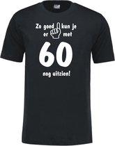 Mijncadeautje - Leeftijd T-shirt - Zo goed kun je er uitzien 60 jaar - Unisex - Zwart (maat M)